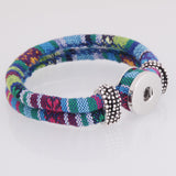 Snap Button Bracelet, Colorful Fabric