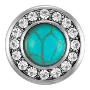 Diva Dot, Turquoise Surrounded by Bling