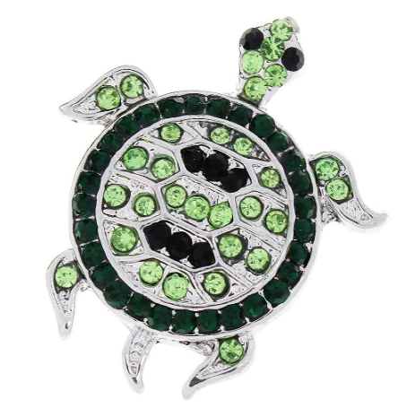 Diva Dot Snap Button, Turtle, Crystal