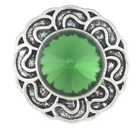 Diva Dot Snap Button, Decorative Green