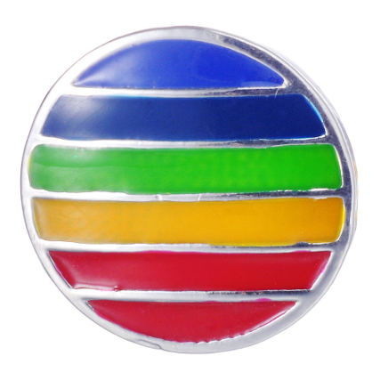 Diva Dot Snap Button, Rainbow