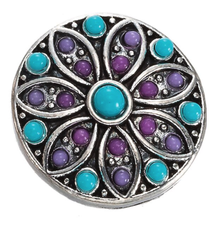 Diva Dot, Decorative Turquoise & Purple