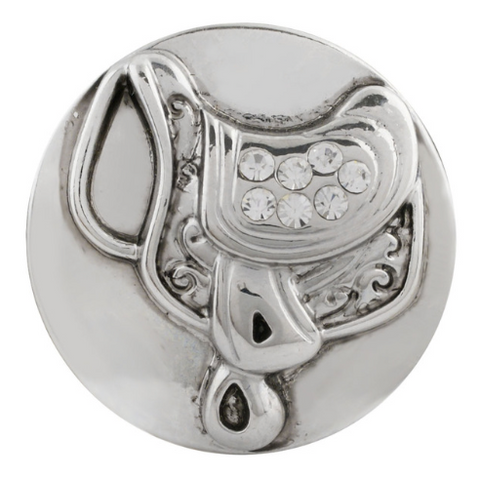 Diva Dot Snap Button, Saddle With Crystals