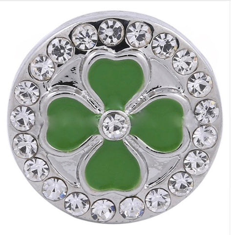Diva Dot Snap Button, 4 Leaf Clover