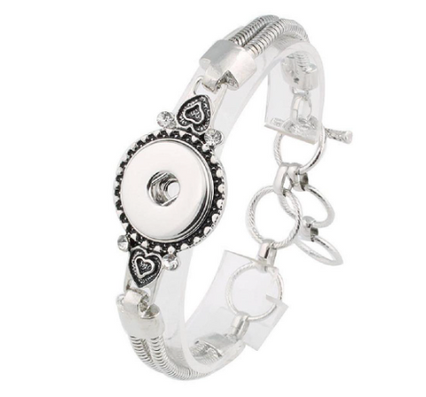 Bracelet, Metal with Heart Embellishment