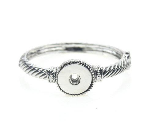 Bangle Metal Snap Button Bracelet