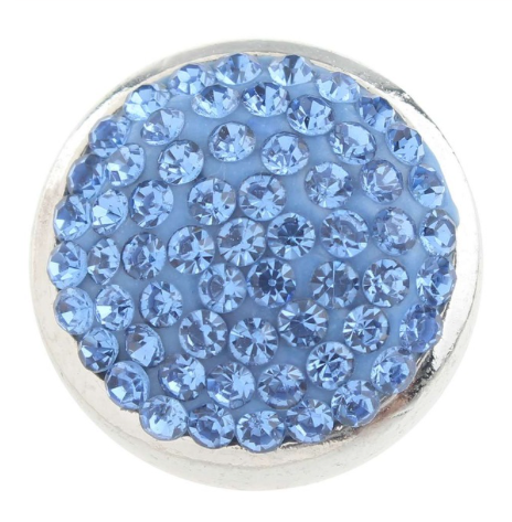 Diva Dot Snap Button, Blue Crystals