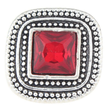 Diva Dot Snap Button, Square Crystal
