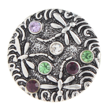 Diva Dot Snap Button, Fireflies With Crystals