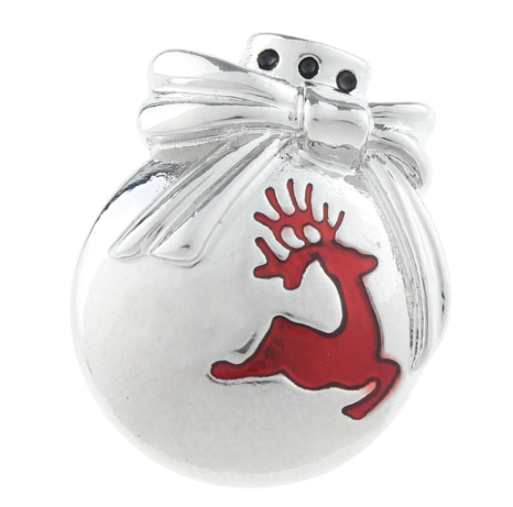 Diva Dot Snap Button, Reindeer Bulb
