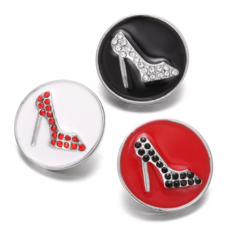 Diva Dot Snap Button, High Heel