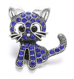 Diva Dot Snap Button Crystal Cat