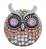 Diva Dot Snap Button, Owl