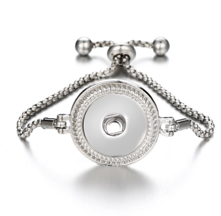 Snap Button Bracelet, Sliver Slide