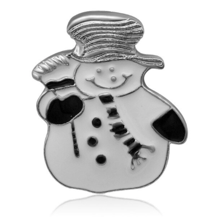 Diva Dot Snap Button, Snowman