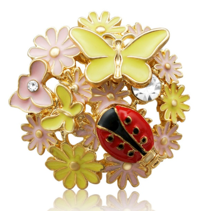 Diva Dot Snap Button, Flower, Butterflies & Ladybug