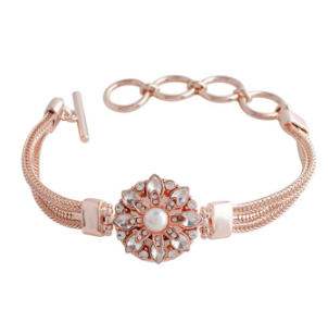 Snap Button Bracelet,  Rose Gold