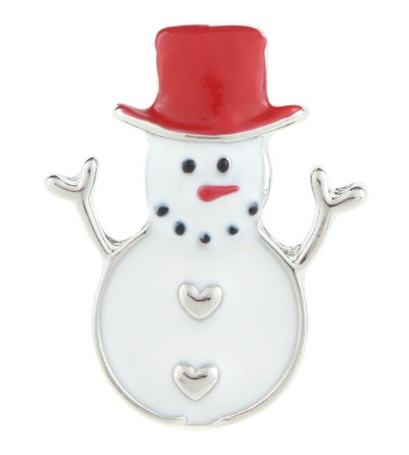 Diva Dot Snap Button, Snowman Red Hat