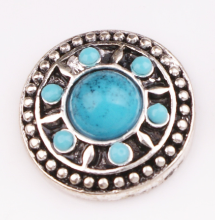 Diva Dot Snap Button, Decorative Turquoise