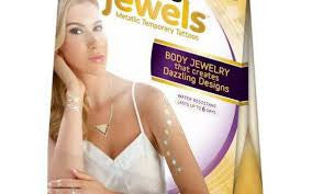 Hot Jewels, Metallic Temporary Jewelry Tatoos