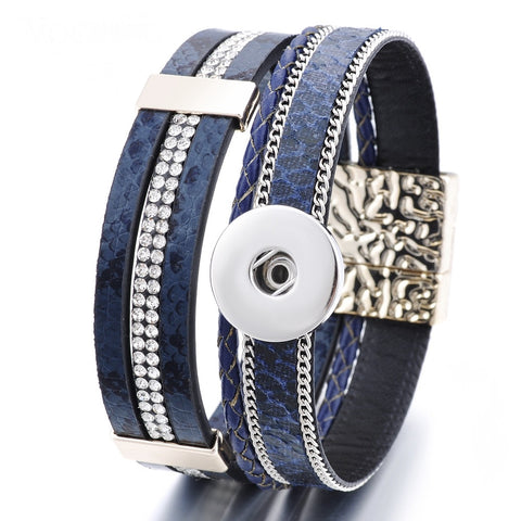 Bracelet, Navy with Magnetic Clasp