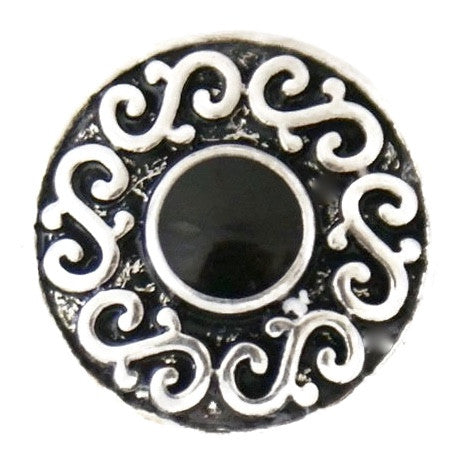 Diva Dot, Decorative Black w/ Scroll