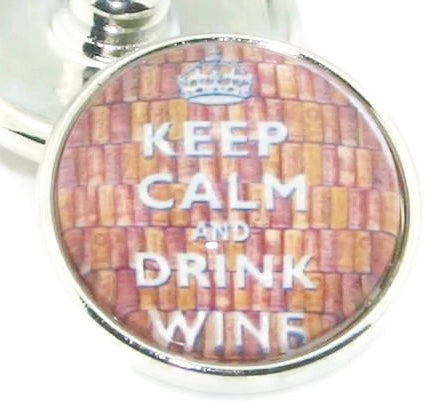 Diva Dot, Keep Calm and Drink Wine, Glass