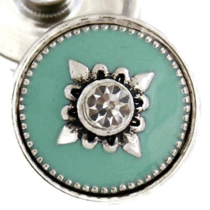 Diva Dot, Decorative Turquoise with Crystal