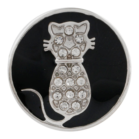 Diva Dots, Crystal Cat on Black