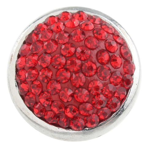 Diva Dot Snap Button, Red Bling!