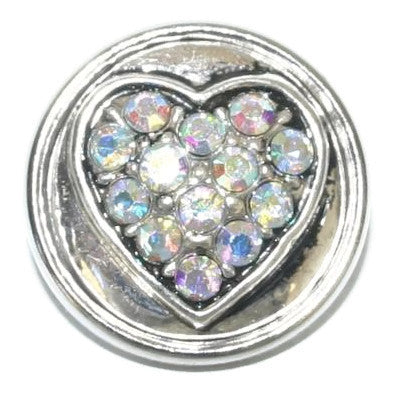 Diva Dot, Heart Filled with Opaque Rhinestones