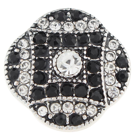 Diva Dots, Decorative Black and White Crystals