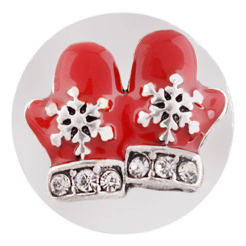Diva Dot Snap Button, Christmas Mittens