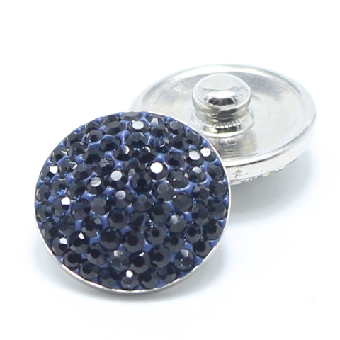 Diva Dot Snap Button, Navy Bling