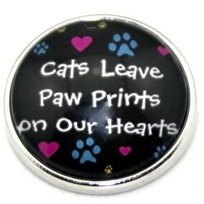 Diva Dot, Cats Leave Paw Prints on our Hearts, Glass