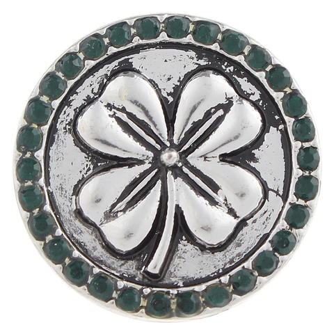 Diva Dot Snap Button, Four Leaf Clover