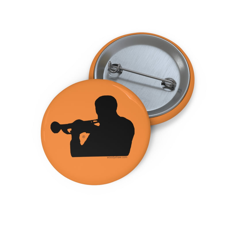 Woody Shaw® Pin Button - Black on Yellow