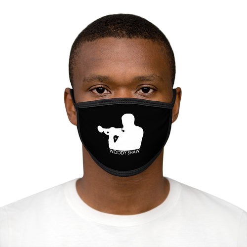 Woody Shaw® Logo Face Mask - White On Black