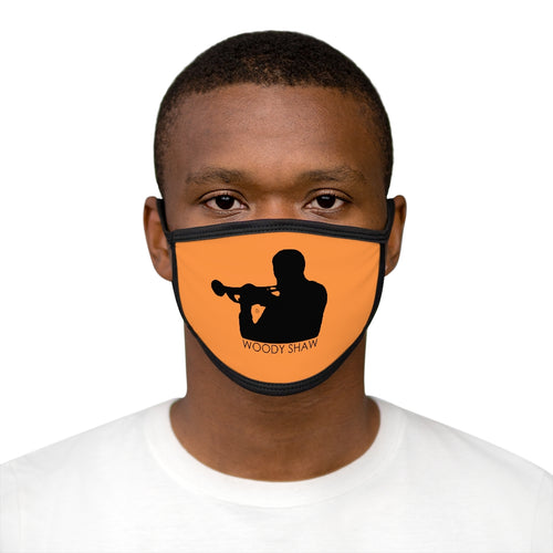 Woody Shaw® Logo Face Mask - Black on Orange