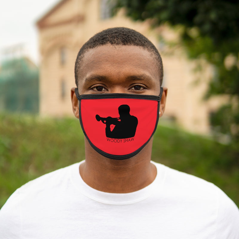 Woody Shaw® Logo Face Mask - Black on Red