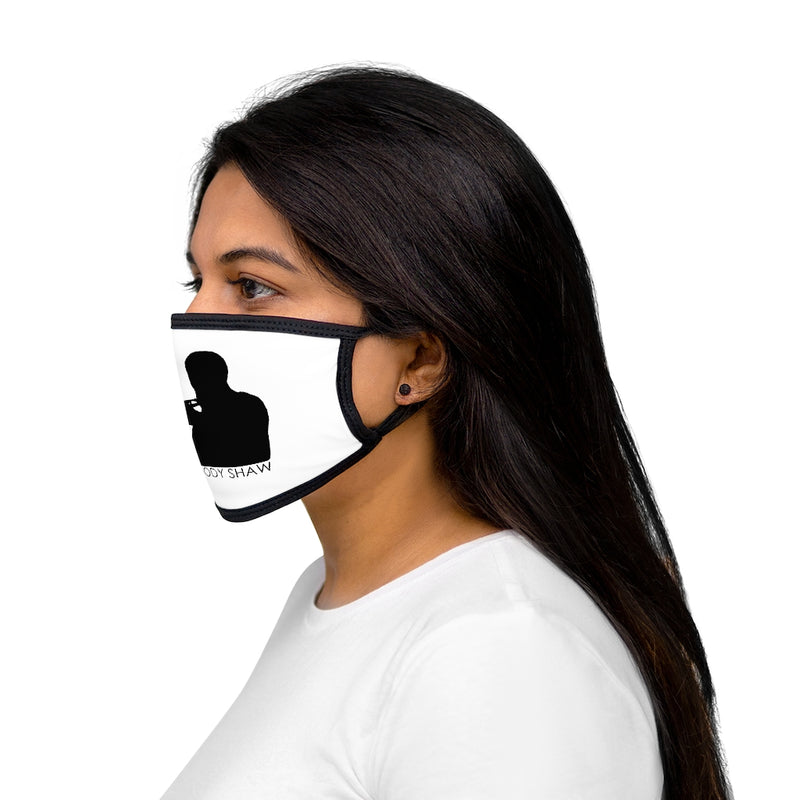 Woody Shaw® Logo Face Mask - Black on White