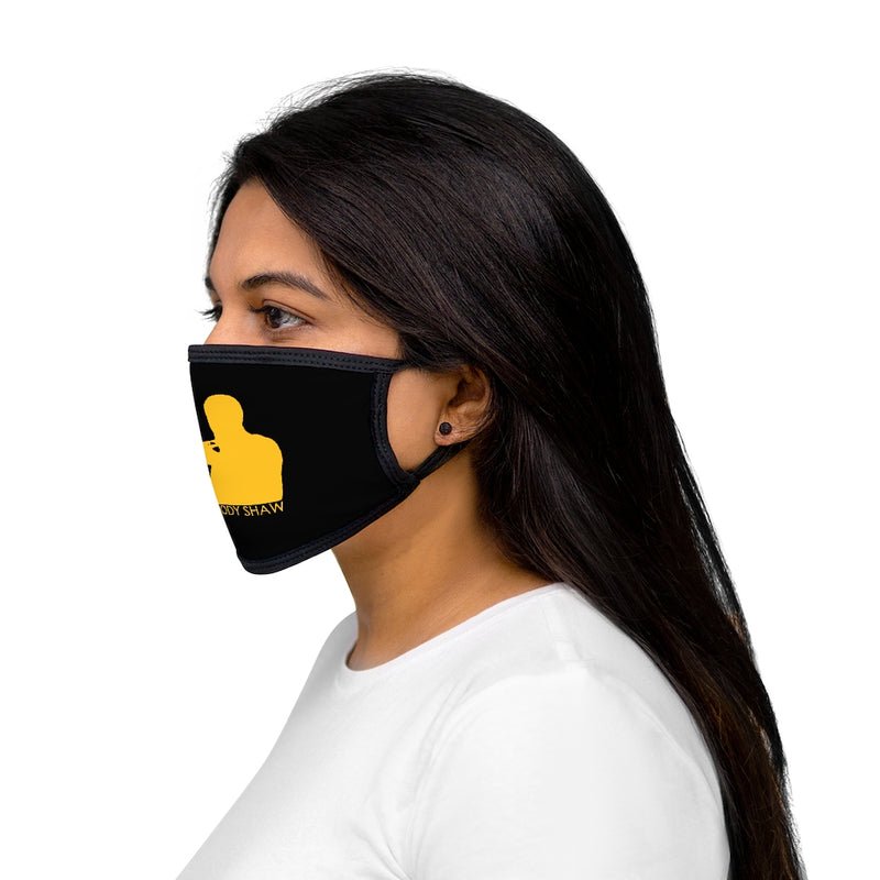 Woody Shaw® Logo Face Mask - Yellow on Black