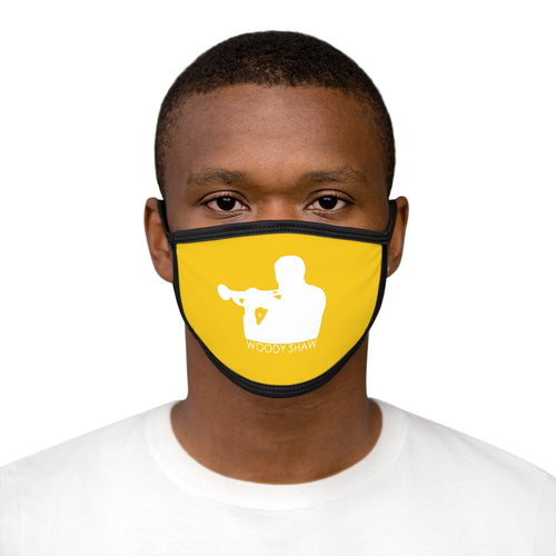 Woody Shaw® Logo Face Mask - White on Yellow