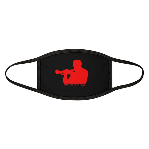 Woody Shaw® Logo Face Mask - Red on Black