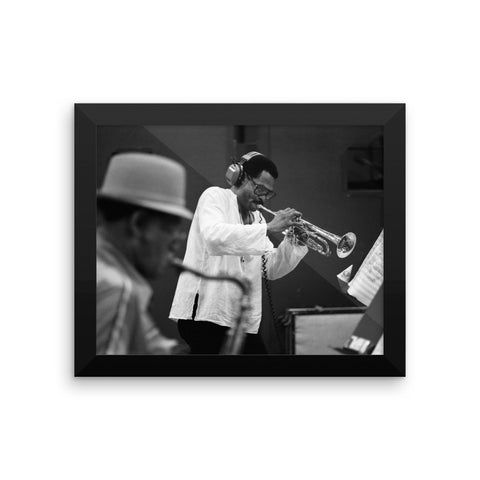 "Woody Shaw & Dexter Gordon Framed Session Photo - ""Gotham City"" (Columbia Records 1981) (B)"
