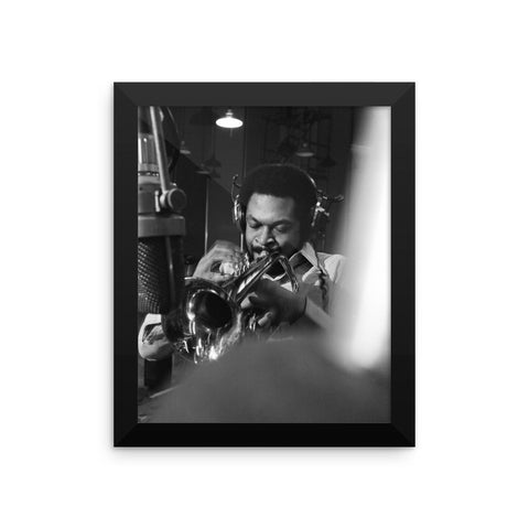 "Woody Shaw Framed Session Photo - ""Rosewood"" (Columbia Records 1978) (B)"