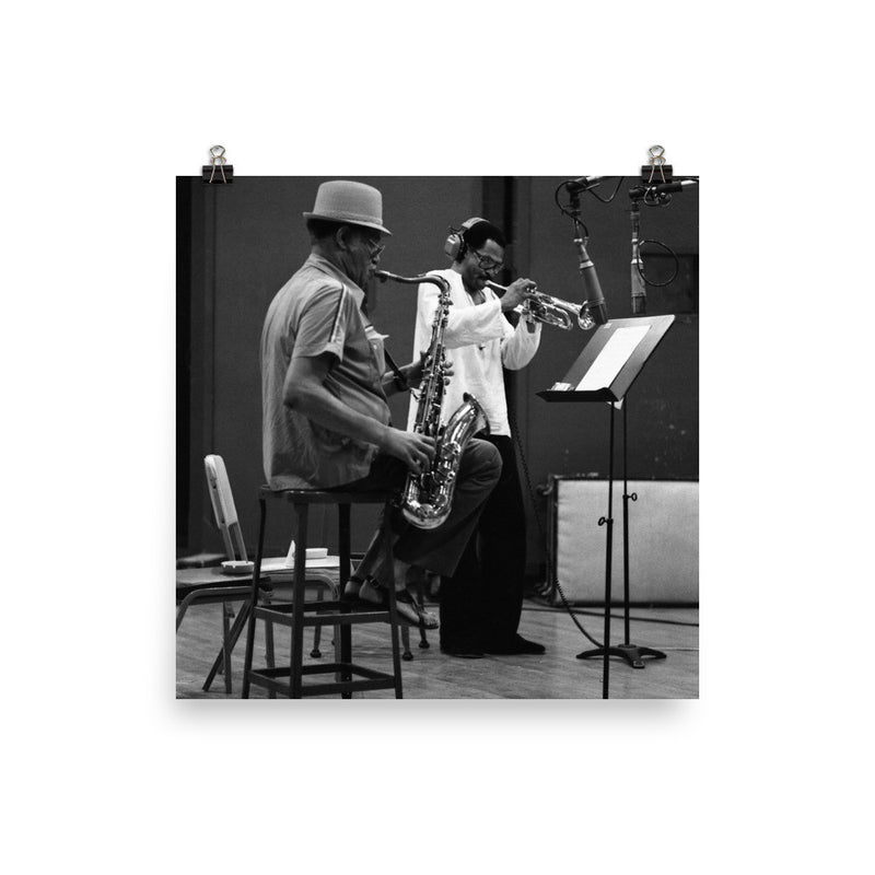 "Woody Shaw & Dexter Gordon Session Photo - ""Gotham City"" (Columbia Records 1981) (C)"