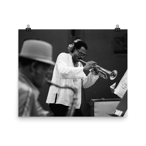 "Woody Shaw & Dexter Gordon Session Photo - ""Gotham City"" (Columbia Records 1981) (B)"