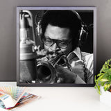 "Woody Shaw Framed Session Photo - ""Rosewood"" (Columbia Records 1978) (H)"