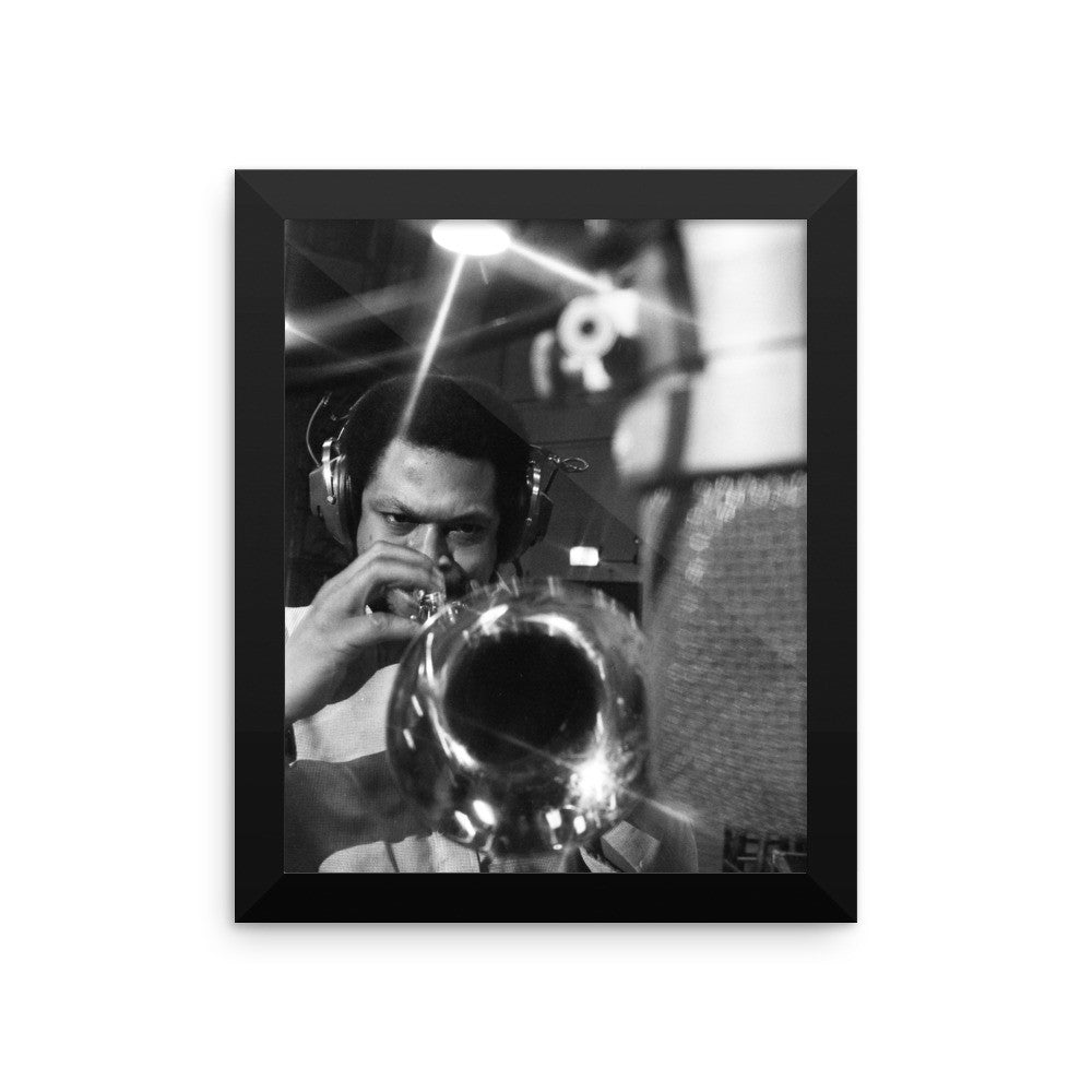 "Woody Shaw Framed Session Photo - ""Rosewood"" (Columbia Records 1978) (C)"